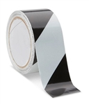 Black/White Reflective Hazard Warning Tape - Available in 2 and 3 inch widths X 10 Yard Rolls