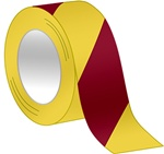 Magenta/Yellow Striped Hazard Warning Tape - Available in 2, 3 and 4 inch widths  X 18 or 36 Yard Rolls