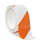 Orange/White Reflective Hazard Warning Tape - Available 2, and 3 inch widths X 10 Yard Rolls