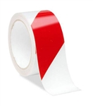 Red/White Reflective Hazard Warning Tape - Available in 2 and 3 inch widths X 10 Yard Rolls