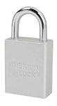 Clear, American Lock A1105CLR Lockout Padlock - Clear color coded anodized aluminum padlock - 1 inch hardened steel chrome plated shackle.