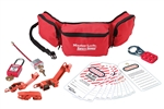 Master Lock 1457E410 Personal Lockout Pouch - Electrical - Convenient all-in-one kit contains multiple lockout devices for electrical Lockout/Tagout procedures