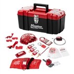 Master Lock 1457VE410KA Personal Valve and Electrical Lockout Kit - Convenient all-in-one kit contains multiple lockout devices for Valve Lockout/Tagout procedures