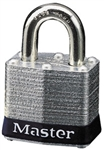 Master™ Lock 3BLK No. 3 Black Bumper Steel Body Lockout Padlock - 3/4 inch Shackle - Safety Padlock features color coded bumper supplied for identification and protection.