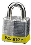 Master™ Lock 3YLW No. 3 Yellow  Bumper Steel Body Lockout Padlock - 3/4 inch Shackle - Safety Padlock features color coded bumper supplied for identification and protection.