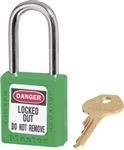 Green Master™ Lock 410 Green Safety Series Lockout Padlock - 1 1/2 inch Shackle - Safety Padlock features a Danger label