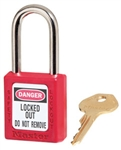 Red Master™ Lock 410 Safety Series Lockout Padlock - 1 1/2 inch Shackle - Safety Padlock features a Danger label