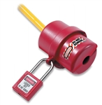 Master Lock 487 Rotating Electrical Plug Lockout, prevents unauthorized start up of electrical equipment or machinery