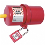 Master Lock 488 Rotating Large Electrical Plug Lockout prevents unauthorized start up of electrical equipment or machinery