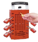 Master Lock Group Lock Box - 503 Red - The Latch Tight Group Lock Box will keep all of your keys well organized and protected until everyone is accounted for.