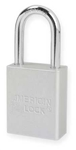 Clear, American Lock A1106CLR Lockout Padlock - Clear anodized aluminum padlock - 1-1/2 inch hardened steel chrome plated shackle.