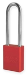 Red, American Lock A1107RED Lockout Padlock - Red anodized aluminum padlock - 3 inch hardened steel chrome plated shackle.