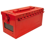 Master Lock S600, Portable Group Lock Box, Heavy Duty Steel Construction - Accepts 18 locks to keep all of your keys well organized and protected until everyone is accounted for.