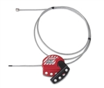 6 foot adjustable Cable Lockout - Feed cable through multiple devices, Gate valves, Secure equipment