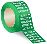 OXYGEN - 3 X 3 Pressure sensitive vinyl markers designs to fit pipes up to 1 inch in diameter
