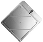 RIVETED ALUMINUM PLACARD HOLDER - 14 x 14, .030 Aluminum, Stainless Steel Clips, 8 mounting Holes and with drain.