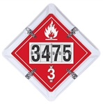 Fuel Tanker Flip 6 Legend Placard Set with Flip UN Numbers