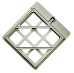 POLYCARBONATE DOT PLACARD HOLDER - 12 1/2 x 14, .075 Polycarbonate with Spring Clip and drain hole