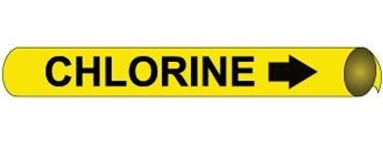 Chlorine Pre-coiled and Strap On Pipe Markers - Available in 8 Sizes
