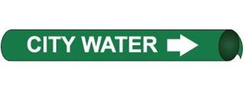 City Water Pre-coiled and Strap On Pipe Markers - Available in 8 Sizes