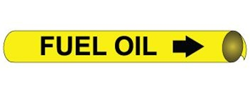 Fuel Oil Pre-coiled and Strap On Pipe Markers - Available in 8 Sizes