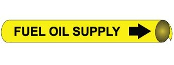 Fuel Oil Supply Pre-coiled and Strap On Pipe Markers - Available in 8 Sizes
