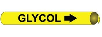 Glycol Pre-coiled and Strap On Pipe Markers - Available in 8 Sizes