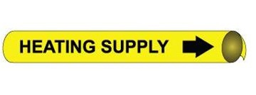 Heating Supply Pre-coiled and Strap On Pipe Markers - Available in 8 Sizes