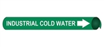 Industrial Cold Water Pre-coiled and Strap On Pipe Markers - Available in 8 Sizes
