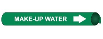 Make Up Water Pre-coiled and Strap On Pipe Markers - Available in 8 Sizes