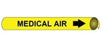 Medical Air Pre-coiled and Strap On Pipe Markers - Available in 8 Sizes
