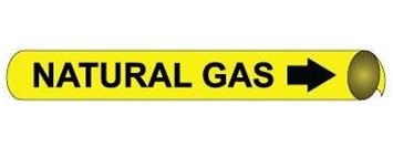 Natural Gas Pre-coiled and Strap On Pipe Markers - Available in 8 Sizes