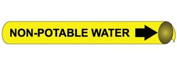 Non Potable Water Pre-coiled and Strap On Pipe Markers - Available in 8 Sizes