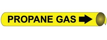 Propane Gas Pre-coiled and Strap On Pipe Markers - Available in 8 Sizes