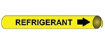 Refrigerant Pre-coiled and Strap On Pipe Markers - Available in 8 Sizes
