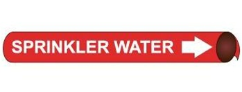 Sprinkler Water, Pre-coiled and Strap On Pipe Markers - Available in 8 Sizes