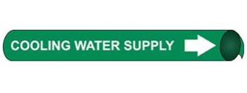 Cooling Water Supply Pre-coiled and Strap On Pipe Markers - Available in 8 Sizes