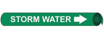 Storm Water, Pre-coiled and Strap On Pipe Markers - Available in 8 Sizes