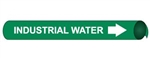 Industrial Water Pre-coiled and Strap On Pipe Markers - Available in 8 Sizes