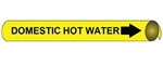 Domestic Hot Water Pre-coiled and Strap On Pipe Markers - Available in 8 Sizes