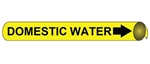 Domestic Water Pre-coiled and Strap On Pipe Markers - Available in 8 Sizes