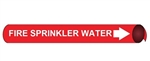 Fire Sprinkler Water Pre-coiled and Strap On Pipe Markers - Available in 8 Sizes