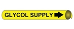 Glycol Supply Pre-coiled and Strap On Pipe Markers - Available in 8 Sizes