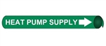 Heat Pump Supply Pre-coiled and Strap On Pipe Markers - Available in 8 Sizes