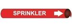 Sprinkler, Pre-coiled and Strap On Pipe Markers - Available in 8 Sizes