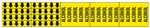 ALCOHOL, Vinyl Pipe marker - STYLE F - 2 1/4 X 13 3/4 For Pipes 3/4 outside diameter or less 8 Strips of arrows (5 ea. in a strip) 1/2 X 2 3/4 - 3 Strips legend (5 per strip) 2 1/4 X 2 3/4