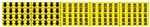 BLOW OFF WATER PIPE MARKER - STYLE F - 2 1/4 X 13 3/4 For Pipes 3/4 outside diameter or less 8 Strips of arrows (5 ea. in a strip) 1/2 X 2 3/4 - 3 Strips legend (5 per strip) 2 1/4 X 2 3/4