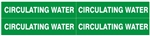 CIRCULATING WATER PIPE MARKER - STYLE D - For Pipes 1 to 2-3/8 outside diameter 4 Markers per card 1-1/8 X 6