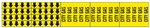 CITY GAS PIPE MARKER - STYLE F - For Pipes 3/4 outside diameter or less 8 Strips of arrows (5 ea. in a strip) 1/2 X 2 3/4 - 3 Strips legend (5 per strip) 2 1/4 X 2 3/4