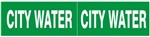 CITY WATER, PIPE MARKER - STYLE C - For Pipes 2-1/2 to 6 outside diameter 2 Markers per card 2.25 X 6